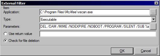 External AV Filter