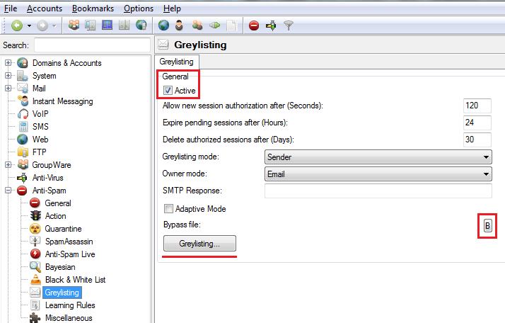 AntiSpam Greylisting