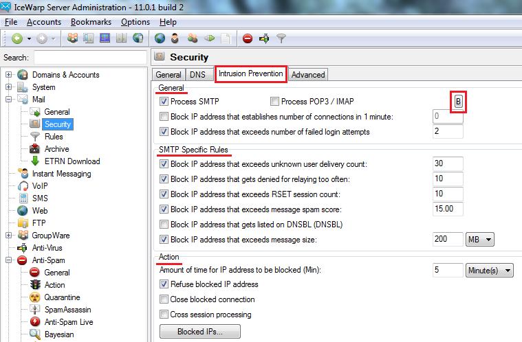 Configuring AntiSpam and Mail server security – IceWarp Help Center