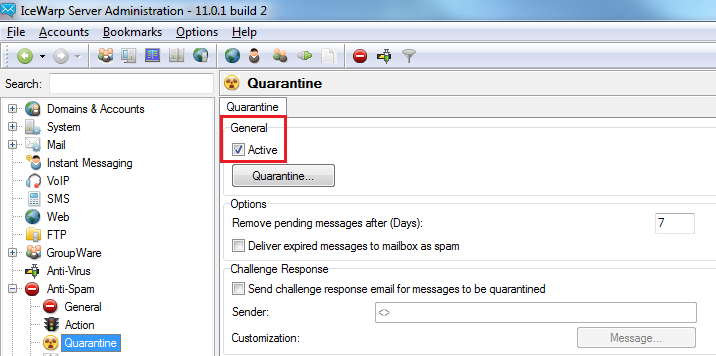 AntiSpam Quarantine
