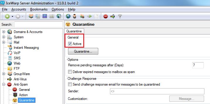AntiSpam Quarantine