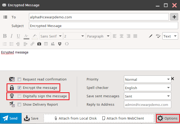 Encrypted Mails Signature