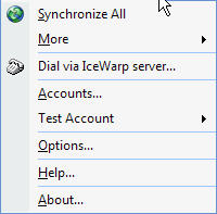 Groupware Accounts Menu Drop Down