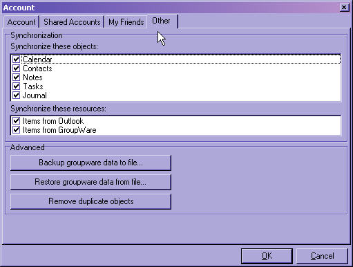 Groupware Other Tab
