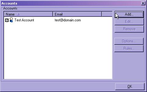 Grpup Accounts Menu Add/Edit